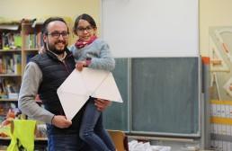PTSGroup_KALLE macht Schule_Initiator und Mitarbeiter der PTSGroup Matthias Knak mit seiner Tochter und KALLE